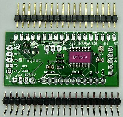 I2C and Serial LCD controller with keypad interface for use with 16x2 or 20x4