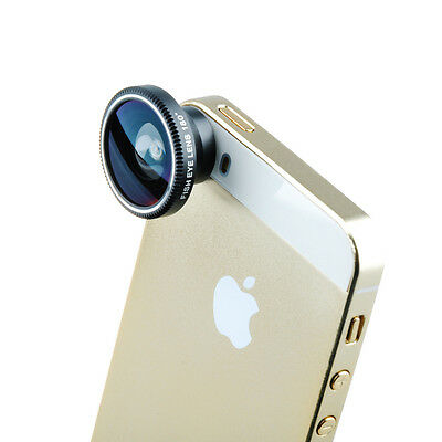 3 In 1Detachable Fisheye Wide Angle Telephoto Micro Lens For iPhone 6 5S 5C 5 4S
