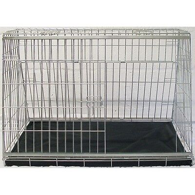 "34"" Sloping Dog Car Cage Boot Travel Crate Puppy Guard Hatchback & Estate Cage"