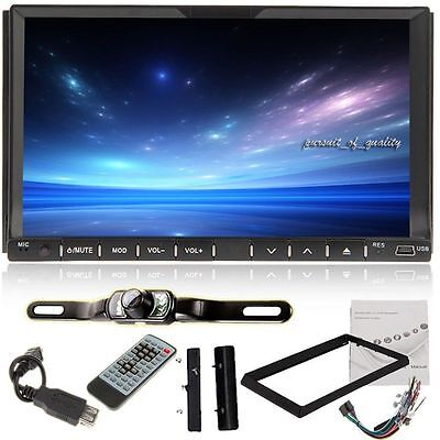 """Double 2 Din 7"""" Car DVD CD MP3 Player Touch Screen In Dash Stereo Radio+Camera X"""
