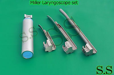Miller Laryngoscope set Veterinary Surgical Instruments LS-3001