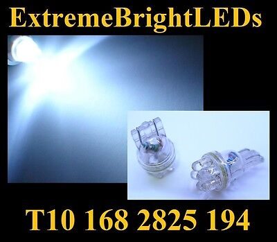 TWO HID WHITE T10 2825 168 6-LED License Plate Lights Bulbs #49G