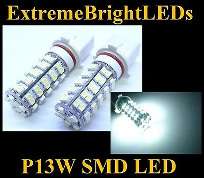 TWO HID Xenon WHITE 68-SMD P13W SMD LED Fog Daytime Running Lights bulbs