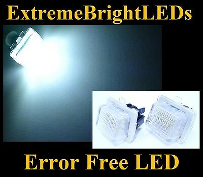 TWO HID WHITE Error Free LED License Plate Lights Lamps Mercedes W204 W212 W216