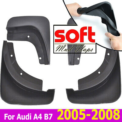 Front Rear Mud Flaps Fit For Audi A4 (B7) Sedan 05~08 Splash Guards Mudguards