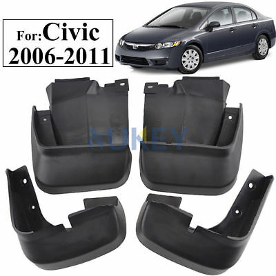 Fit For 2006-2011 Honda Civic Mud Flap Flaps Splash Guards Mudguards 2010 2009
