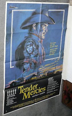 ec14525a072 TENDER MERCIES original 1983 rare movie poster ROBERT DUVALL TESS HARPER