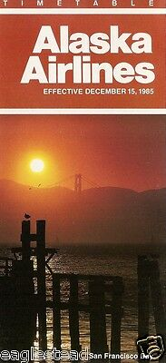 Airline Timetable - Alaska - 15/12/85 - San Francisco Bay cover