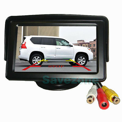 "4.3"" TFT LCD Car Rearview Color Monitor Screen For Reversing Camera Kit DVD VCR"