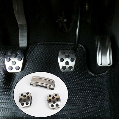 Fit For Ford Focus Mk2 05-11 M/T Chrome Foot Pedal Cover Pads Rest Clutch Refit