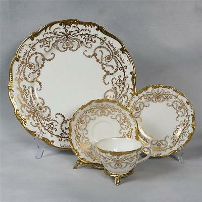 "SET OF 4 COALPORT WHITE ""ANNIVERSARY"" 4 PIECE PLACE SETTINGS - 16 PIECES"