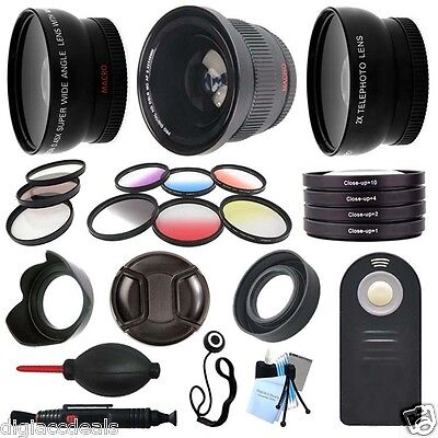 Canon EOS Rebel T3i, 600D DSLR 58mm Primary Lens and Filter Set