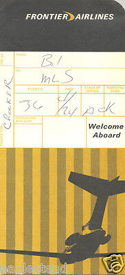 Ticket Jacket - Frontier - B727 - Route Map (J1096)