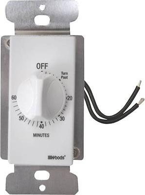 New Woods 59717 Wall Automatic 60 Minute Switch Timer Spring Control 2109023