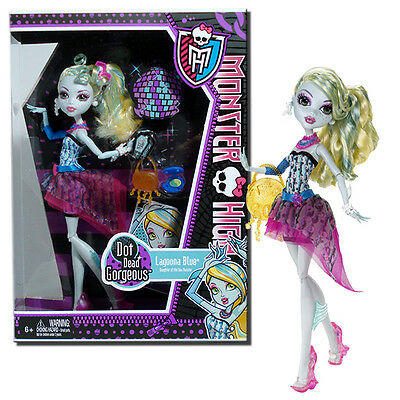 Monster High Dot Dead Gorgeous Lagoona Blue 11-Inch Fashion Doll - Mattel