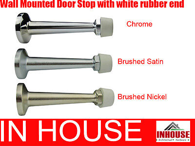 Wall mounted door stops- Chrome, Brushed Satin, Brushed Nickel(DS019)