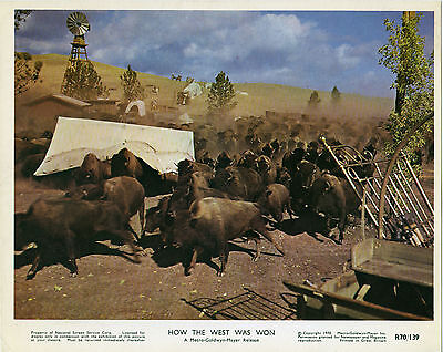 HOW THE WEST WAS WON original color lobby movie still photo BUFFALO STAMPEDE