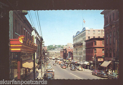 1960s downtown street view old cars signs woolworth stores bank avon savannah ga. Black Bedroom Furniture Sets. Home Design Ideas