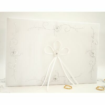 New White Wedding Guest Book Signature Guestbook Album Bride Groom Gift