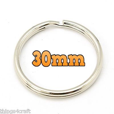 30MM SPLIT RINGS KEY KEYRINGS  ROUND RING KEYRING KEYS CLASP 10 to 1000