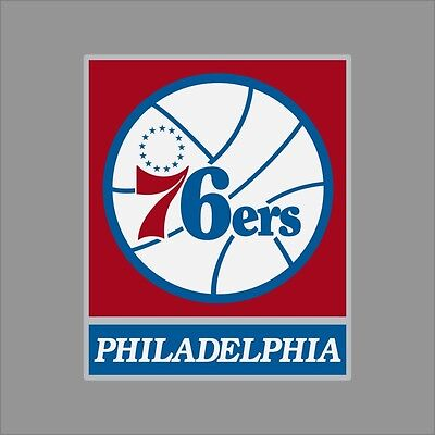 Philadelphia 76ers NBA Team Logo Vinyl Decal Sticker Car Window Wall Cornhole