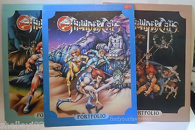 Thundercats Vintage Folders Portfolio Lot of 3 80s Lion-O Cheetara Snarf New
