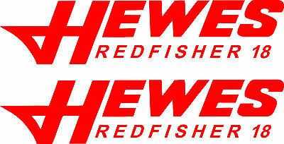 2 Hewes Redfisher 18 decals 15 inch  FREE SHIPPING