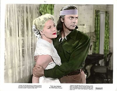 "JANIS CARTER & JACK BUETEL in ""The Half-Breed"" Original Vint. Colored Photo 1952"