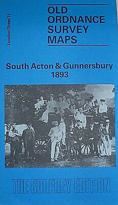 Old Ordnance Survey Map South Acton & Gunnersbury London 1893 Godfrey Offer