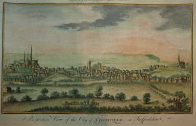 View Of The City Of Litchfield In Staffordshire 1779.