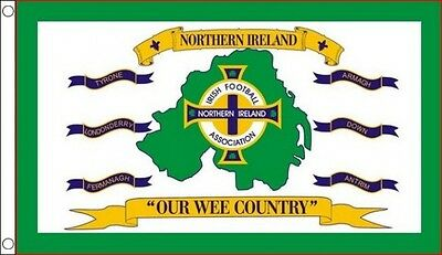 OUR WEE COUNTRY FLAG 5' x 3' Northern Ireland Irish Soccer Football Euro 2016