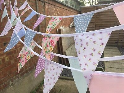 Clearance Handmade Fabric Bunting.shabby Chic.weddings,vintage Florals.from £3.