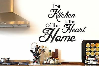 The Kitchen Is The Heart Of The Home Wall Stickers Decals Art Quotes