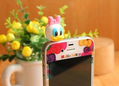 Cartoon Doll Earphone Jack Anti Dust Plug Smart Phones 3.5mm Daisy Duck