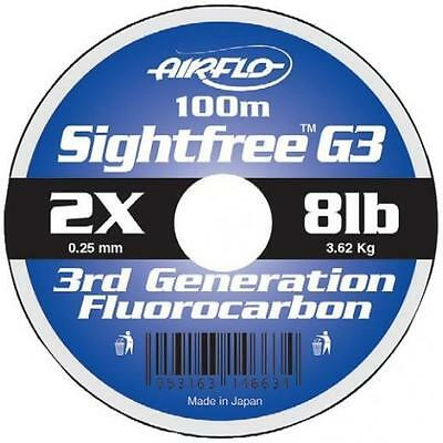 Airflo NEW Sight-Free G3 Fluorocarbon 100 metres Fly Fishing Salmon Fishing