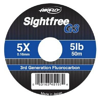 Airflo NEW Sightfree G3 Fluorocarbon 50 metres Fly & Salmon Fishing Leader Line