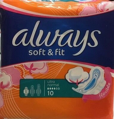 3x Always Soft & Fit Utra Normal With Wings 10's multibuy