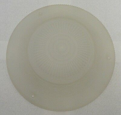Old Frosted Glass Flower Pattern Light Fixture Shade
