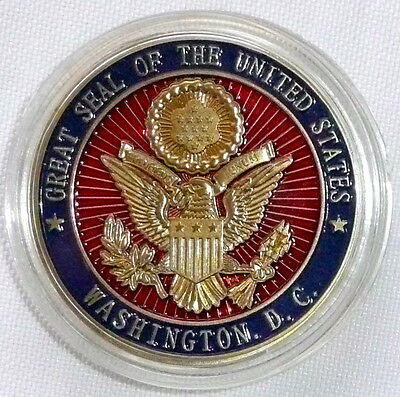 Great Seal/Pentagon Challenge Coin Washington D.C. w/ Case United States >NEW<