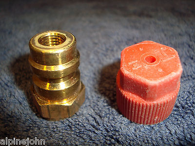 ADAPTER High Side R12 To R134a BRASS Heavy Duty Vintage AUTOI 235-2621 NEW   F1