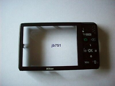 FOR NIKON COOLPIX L22 REAR BODY, BLACK, USED, EXCELLENT CONDITION