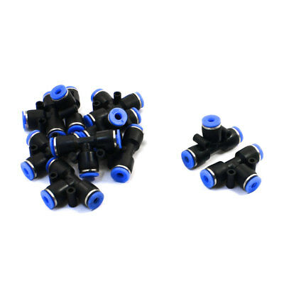 10Pcs 4mm to 4mm Connector Air Pneumatic T Style Quick Joint Fittings