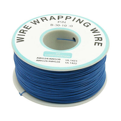 200M 30AWG Tin Plated Copper Wire Insulation Test Wrapping Cable Roll Blue
