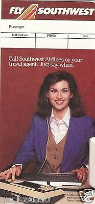 Ticket Jacket - Southwest - Nancy Easterling - 1985 (J1448)