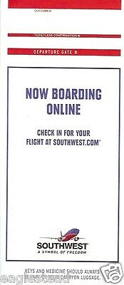 Ticket Jacket - Southwest - Now Boarding - 2004 - SW Visa Ad (J1450)