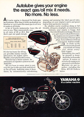 1971 Yamaha RT-1B Enduro Motorcycle - Classic Vintage Advertisement Ad D146