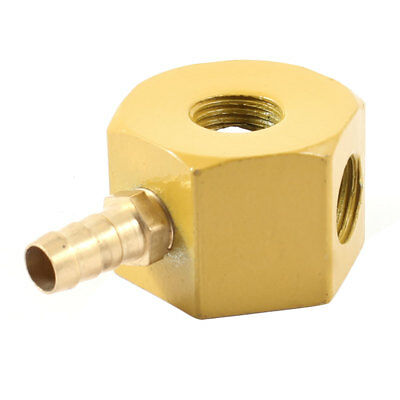"""0.47"""" Diameter 3 Holes Round Nozzle Magnetic Oil Coolant Pipe Base Yellow"""
