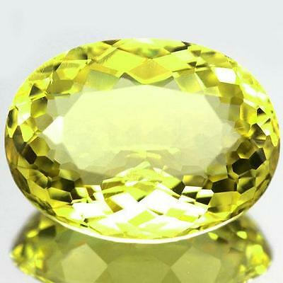 VVS Green Gold Quartz Brazil Natural Gemstone 29.3 CTS 24.5x19mm