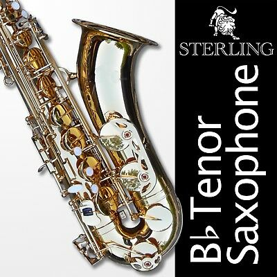 Black Tenor Sax • Brand New STERLING Bb Saxophone • With Case and Accessories •