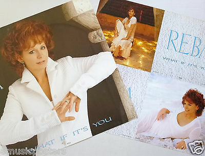 """REBA McENTIRE """"WHAT IF IT'S YOU"""" 2-SIDED U.S. PROMO POSTER/FLATS - Country Music"""